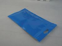 Kulaklık fermuar kese, 100 adet / 10.5x15 cm Ön Şeffaf Mavi BOPP Perlized Film Kilitli çanta-pearlised filmi paketi saç halka ambalaj çuval