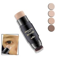 MiXiu Double Skin Fit Foundation Stick with Brush Soft Blend...