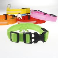 Luminous collana Bite Pet cintura in pelle Prova con colletto stile durevole Rivet classico per Formazione Pet Tenere Walking Collari T1I393