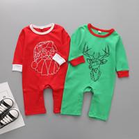 vêtements pour bébés enfant nouveau-né onesie salopettes Europe et automne et d'hiver américains nouveaux enfants costumes de Noël vêtements nouveau-nés