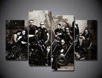 Wall Art Paintings Keine gerahmt Sons Of Anarchy Soa Samcro Malerei auf Leinwand-Start-Raum-Dekoration