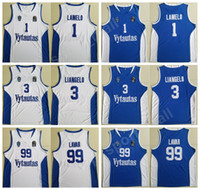 New Arrival. Moive Basketball Lithuania Vytautas Jerseys Men 1 LaMelo Ball  3 LiAngelo Ball 99 LaVar Ball Jersey Stitched Team Blue Color White Quality 055f61f37
