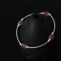 strawberry quartz bracelet charm national wind strawberry cr...