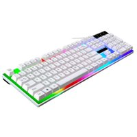 Professionale Ultra-slim Facile da usare G21 Waterproof Rainbow Keyboard Con Rainbow Backlight USB Wired Game Keyboard # ZS