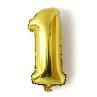 16 дюймов количество фольги воздушные шары цифра воздушные шары свадебные украшения воздушные шары день рождения украшения дети фольги воздушные шары