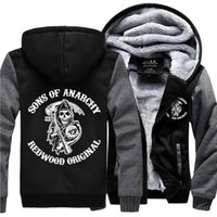 Hot Sale Sons of Anarchy Samcro Jax Winter Thick Hoodie Flee...