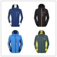 M- 3XL UA Jacket Quick Dry Mens brand Windbreaker under Autum...