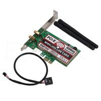 بطاقة PCI-E لاسلكية بتقنية PCI-E سعة 50 مترًا تعمل بتقنية PCI Express وشبكة WIFI لشبكة إيثرنت NIC # H029 #