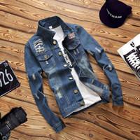 Herren Slim Fit Hemd Jeans für Herren Baumwolle Camisa Chemise Jeanshemd Herren Britischer Stil Langarm Jeansjacke Bluse 4XL Old Frayed Denim