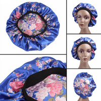Komfortable Damenmode breites Band Satin Bonnet Hair Cap Nacht Schlaf Hut Damen Turban