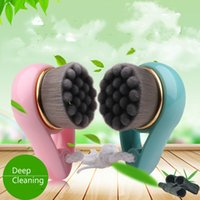 Soft Hand Face Cleaning Brushes with Emboss Bamboo Charcoal ...