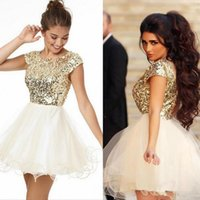 Free Shipping 8th Grade Prom Homecoming Dresses A Line White...
