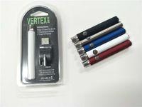 بطاريات Vape سخن شاحن بطارية فيرتكس VV بقدرة 350 مللي أمبير في الساعة من زيت التسخين E السجائر Vape Pen Battery Fit 510 Atomizers