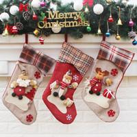 2018 جوارب عيد الميلاد الإبداعية الكبيرة زينة عيد الميلاد سانتا كلوز الجوارب عيد الميلاد الحلي هدايا حقائب عيد الميلاد الجوارب 3 أنماط