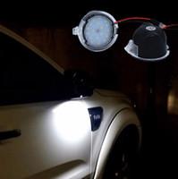 2x für Ford LED Unter Spiegel Puddle Light F-150 EDGE Explorer Mondeo Taurus S-Max LED-Rückspiegel-Lampen-Auto-Styling
