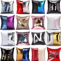 장식 조각 베개 케이스 커버 인어 베개 커버 반짝이 가역 소파 마법의 이중 가역 쿠션 자동차 커버 크리스마스 선물 39 디자인 HH7-276