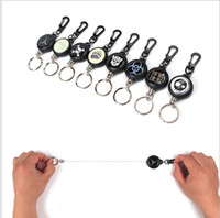 Strength Steel Wire Pull Keyring Tag Card Holder Recoil Belt...