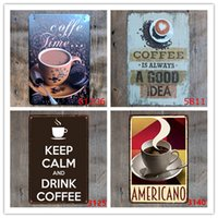 New 20pcs CAFE MENU KNOW YOUR COFFEE TIN SIGN Old Wall Metal...