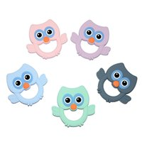 Silicone Teethers Animal Owl Baby Teether Chew Charms Infant...