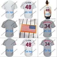2018 별 줄무늬 유니폼 (5) 데이비드 라이트 (33) 맷 하비 (40) 제이슨 바르가스 (48 개) 제이콥 디 그롬 (52 개) 요 에니스 세 스페 데스 야구 유니폼