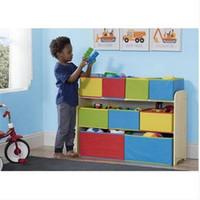 Adorável Crianças Multi-Cor Deluxe Brinquedo Organizador com Caixas De Armazenamento Caixas De Armazenamento Caixas de comida para bebês caixa de armazenamento
