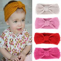 Lovely Kids Girls Bowknot Knitted Headband Hair Band Headwea...