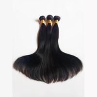 Outlet Silky Droite non transformée Vison Brésilienne Vierge Cheveux Humains Sexy Péruvienne Malaisienne Remy Indienne Cheveux Couleur Naturelle et Noir # 1 # 1b