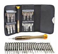 Alta qualidade 25 em 1 precisão torx chave de fenda telefone celular wallet repair tool set para iphone celular eletrônica pc portátil