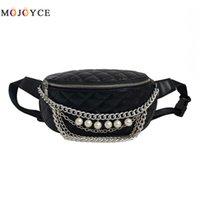 Marca de lujo Cadenas de Perlas Revisadas de Cuero de LA PU Cintura  Paquetes de Las ac6d5a62e56e