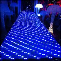 60 X 60 CM classique luxe coloré LED cristal décoration de mariage Aisle Runner T Stage Station Mirror Tapis Livraison gratuite