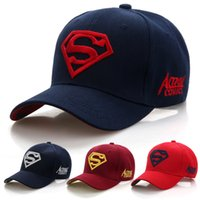 2018 New Letter Superman Cap Casual Outdoor Berretti da baseball Per uomo Cappelli Donne Snapback Caps Per Adulti Cappello da sole 7 Colore CR-1888d