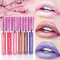 HANDAIYAN Lápiz labial líquido para maquillaje a prueba de agua Lápiz labial mate cosmético para las mujeres El mejor lápiz labial brillante compone la barra de labios