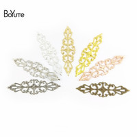 BOYUTE 50Pcs 15*57mm Flower Charm Wholesale Vintage Style Ha...