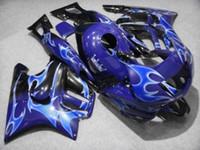 Flames white blue black Fairing kit for 1997 1998 HONDA CBR600F3 97 98 CBR600 F3 CBR 600F3 cbr600 Fairings set+7gifts