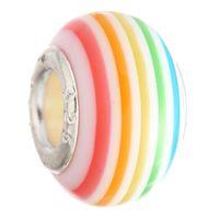 50PCS Mix Perle di vetro di colore fascini Abbastanza Vetro di Murano europea Grande Big Hole Rroll Perle fascino misura per i braccialetti della collana del regalo di Natale