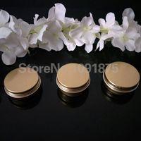 100pcs frete grátis / lot 15g de alumínio ouro Creme Jar Pot Nail Art Maquiagem Lip Gloss vazio ouro 15ml Cosmetic metal Tin Containers