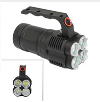 KC Fire Tactical CREE XM-L2 Flashlight 4x L2 LED 3800LM 4 Modes Light Torch 18650 Lamp for Outdoor Fishing Hunting