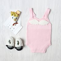 2018 New Arrival Girls Romper Children Knitted Jumpsuit with...