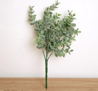Artificial plastic holly leaves greenery bouquet silk flower...