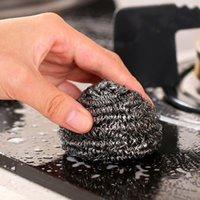 غير القابل للصدأ أسلاك الفولاذ الكرة المطبخ فرشاة الفراكة لتنظيف وعاء وعاء وعاء فرشاة لغسل الصحون أدوات التنظيف المنزلية