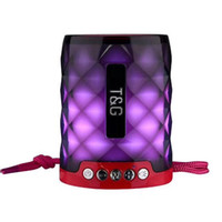 Portable TG155 LED Altoparlante Bluetooth con vivavoce Supporto microfono TF Card FM Mini LED luci colorate Lampada subwoofer esterno impermeabile
