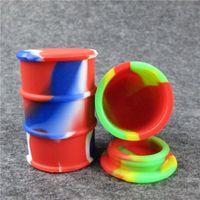 Силиконовые нефтяные бочки Контейнерные банки DAB Wax Vaporizer Масляный резиновый барабан Форма Контейнер 26 мл Большой кремниевый сухой травяной инструмент Dabber FDA