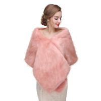 CMS13 abrigo nupcial del chal de la manera, abrigo de piel sintética, estola de piel. Encogimiento de la piel del abrigo nupcial Women Shawl para ocasiones especiales