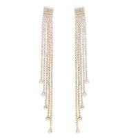 2 цвета модный горный хрусталь кисточка длинные серьги для женщин украшений дизайн подарка