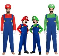 Halloween Cosplay Super Mario Bros Costume For Kids And Adults Funny Party Wear Cute Mario Luigi Set Clothes romper +hat +Beard KKA5689  sc 1 st  DHgate.com & Wholesale Mario Costumes For Adults - Buy Cheap Mario Costumes For ...