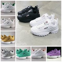 Disruptors II 2. 0 Mens Womens 2018 Running Shoes White Black...