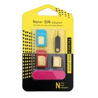 5 في 1 نانو سيم محولات بطاقة + العادية مايكرو سيم + أدوات بطاقة sim القياسية ل فون 4 4 ثانية 5 5c 5 ثانية 6 6 ثانية مربع التجزئة 500 قطعة / الوحدة
