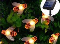 Солнечные Огни Строки 30 Светодиодных Пчелиный Формы Солнечные Сказочные Огни для Открытый Сад Забор Лето Decoratio