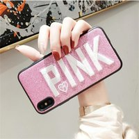 Hot Embroidery PINK Glitter Soft Silicone Cover Cases For Ip...