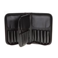 29 Cepler Makyöz Çanta PU Deri Fırçalar Tutucu Kılıfı için Erkekler Kadınlar Kozmetik Case ile Fermuar